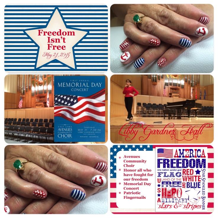 Patriotic nails and concert pl