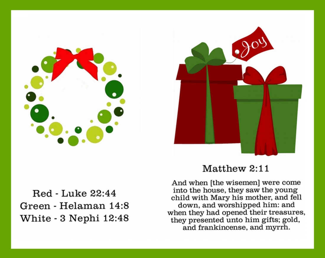 symbols of Christmas wreath
