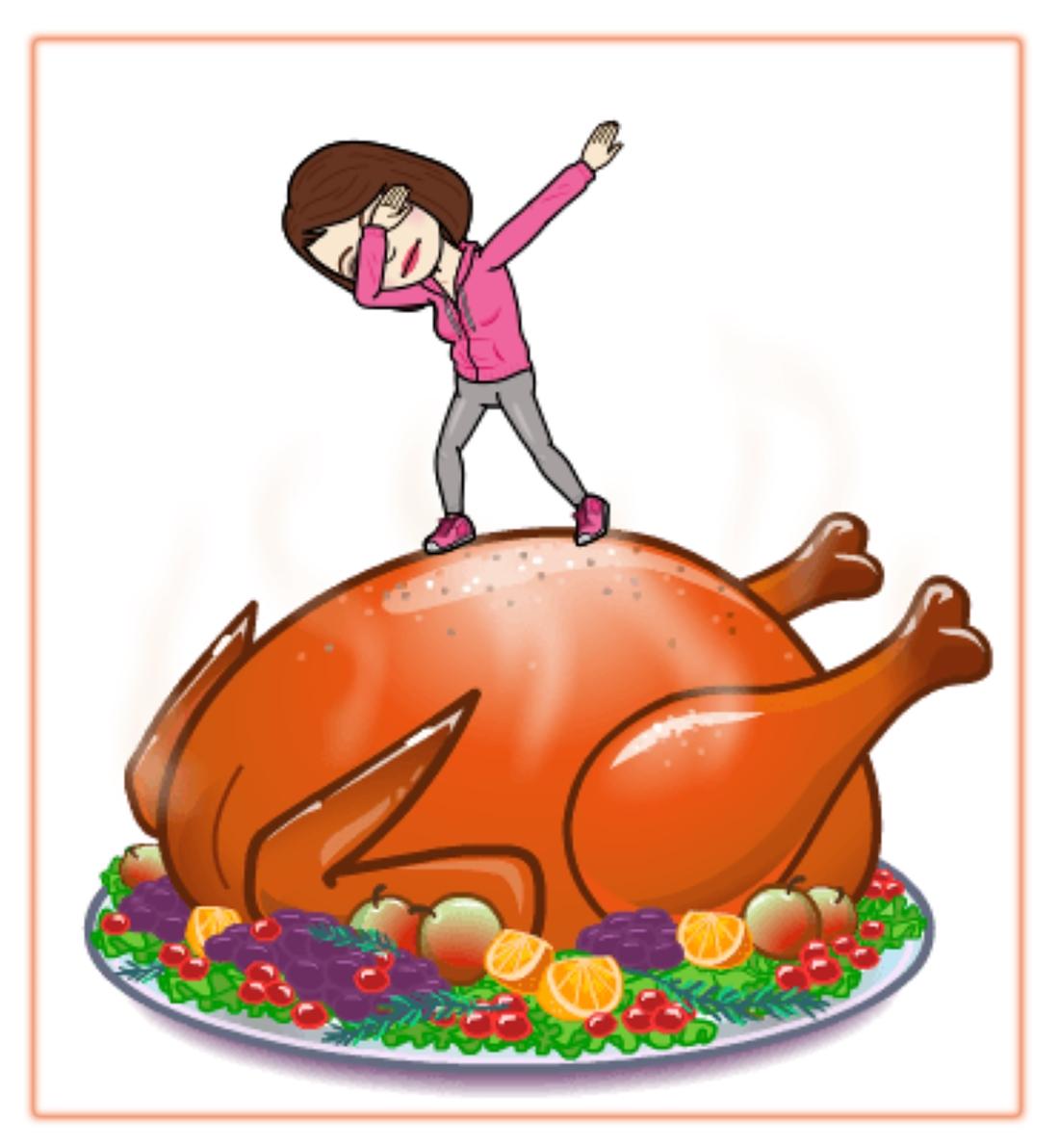 Pam on turkeyIMG_5095